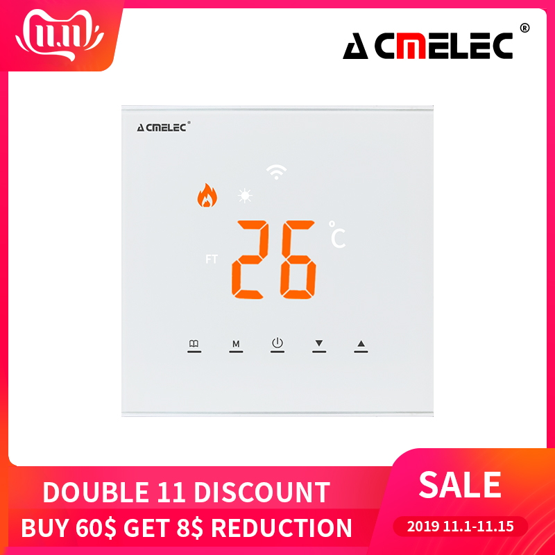 AE-XB-D Touch Screen LED Temperature Regulator Electric Heating, Water Heating WIFI Thermostat APP Control Temperature