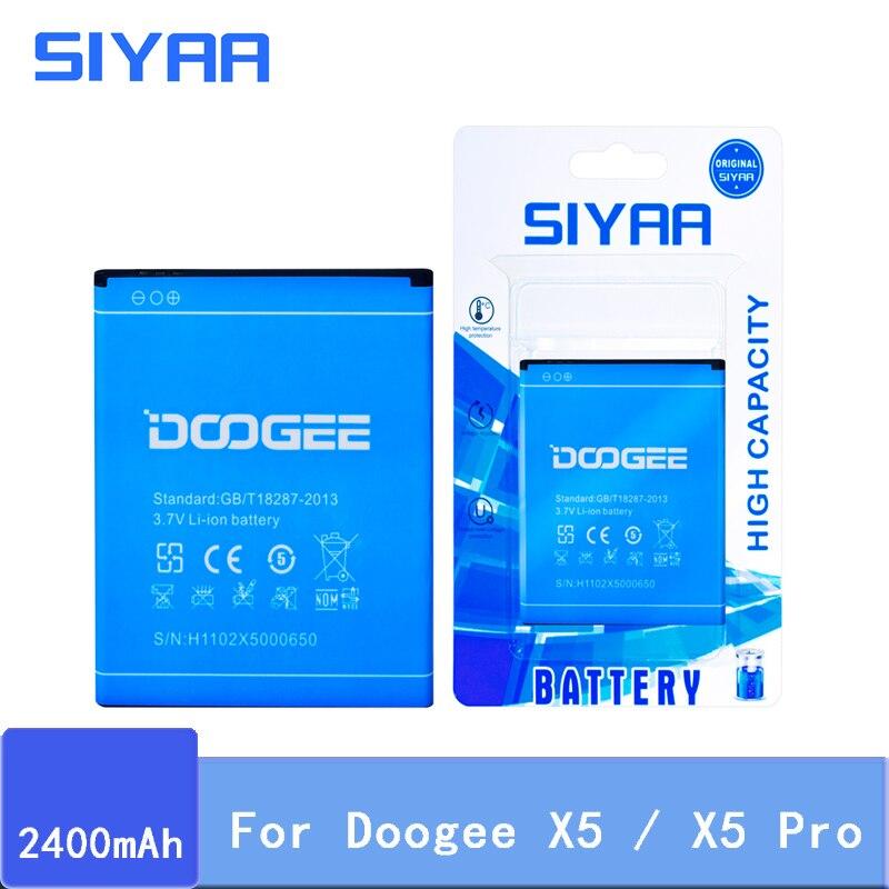 Новая SIYAA Оригинальная батарея Для Doogee X5 батареи 2400 мАч Напряжение 3,7 в Замена литий-ионная батарея высокого качества