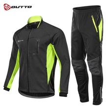 Outto Winter Fleece Cycling Sets Bicycle Thermal Jacket Men's Bike Trousers ropa ciclismo Winter Cycling Clothing Sportswear santic winter fleece thermal cycling jacket men road mountain bike jacket windproof bicycle wind coat chaqueta ropa ciclismo