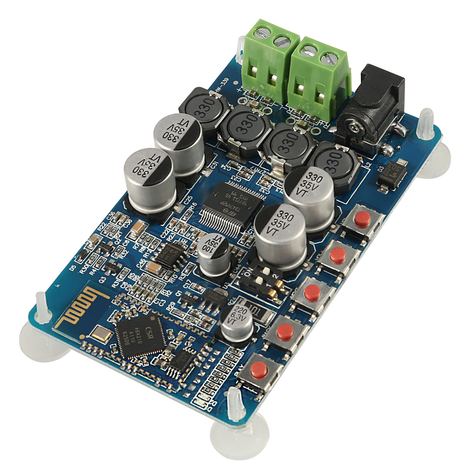 New Tda7492p 50w X 2 Digital Amplifier Board Csr8635 Bluetooth 4.0 Chip Bt Audio Receiver Amplifier Board Module Parts Red Blue