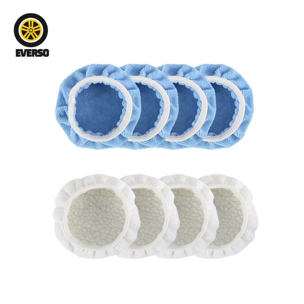 2019 8Pcs/set Buffing Pad Set Thread 20cm Auto Car Polishing pad Kit for Polisher Accessories Waxing