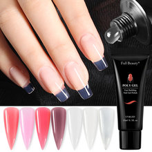 15ML Quick Builder Gel Nails Extension Gel Clear UV LED Polygel Crystal Acrylicgel Nail Finger Extension Manicure Tools NF1809(China)