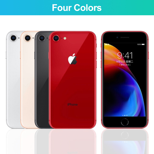 Apple iPhone 8 Used 98% New Original Unlock iPhone8 64GB/256GB 4.7 inch Hexa Core iOS Touch ID Fingerprint Mobile Phone 1821mAh 2
