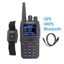Anytone AT D878UV artı DMR radyo VHF 136 174MHz UHF 400 470MHz GPS APRS Bluetooth Walkie Talkie amatör radyo radyo bir kablo ile