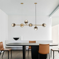 Modern GLass Molecular Pendant Lights Restaurant Living Room Dining Room Hanging Lamp LED Pendant Lamp Home Deco Light Fixtures