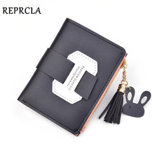 REPRCLA Fashion Women Wallet PU Leather Card Holder Short Style Ladies