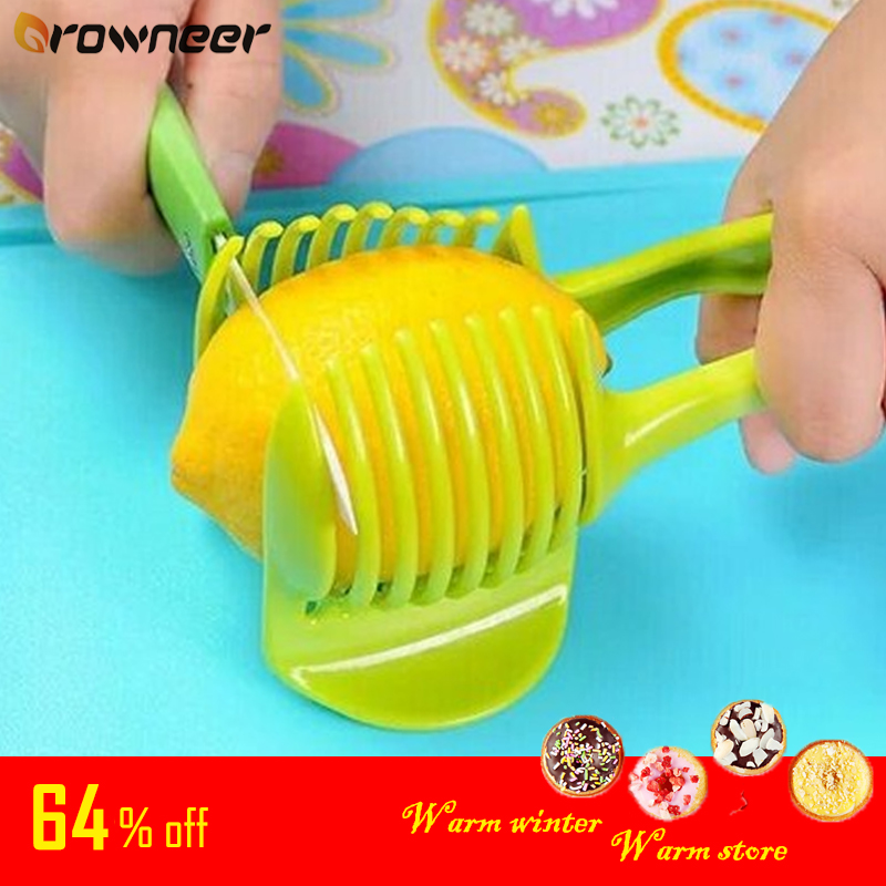 Plastic Vegetable Fruit Cutter Potato Tomato Onion Lemon Egg Peel Slicer Holder Kitchen Gadgets Shredders Cook Tool 1Pc