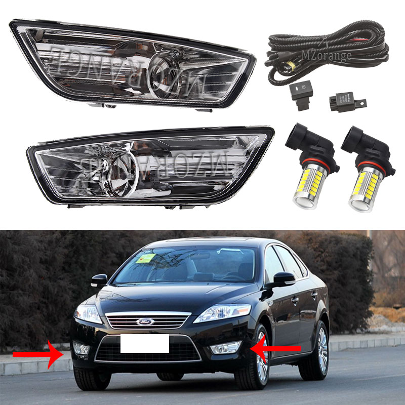 For Ford Mondeo MK4 Fog Lights LED 2007-2010 For Ford Fusion Halogen Fog Light Foglights Fog Lamp Headlights Headlight DRL