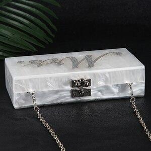 Image 2 - Wit Acryl Clutch Bag Mrs Clutch Portemonnee En Handtas Vrouwen Schoudertas Party Wedding Clutch Bag Voor Bridal ZD1331