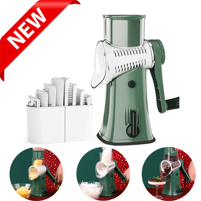 Newest Vegetable Cutter Slicer With 5 Set Blades Potato Carrot Slicing Thick Wire Wavy Grinding Garlic Cheese Chopper Kitchen