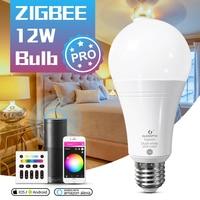 GLEDOPTO ZigBee 3.0 LED Smart Bulb Pro 12W RGBCCT Light funziona con Amazon Echo Plus Alexa SmartThings APP/Voice/RF Remote Control