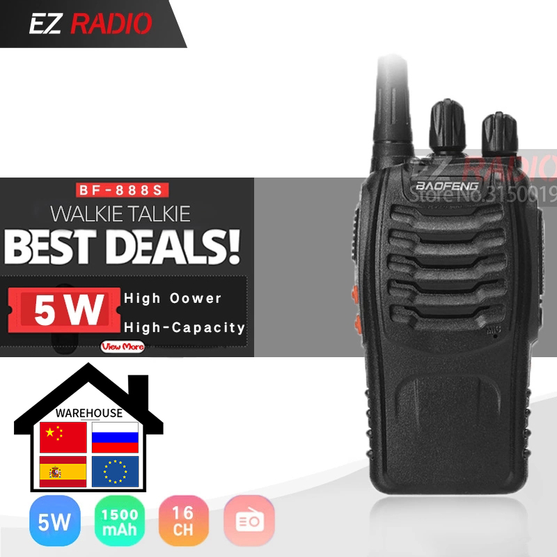 Baofeng BF-888S Single Band UHF 400-470MHz Cheapest Two Way Radio Baofeng BF 888S Transceiver For Ham Hotel Driver BF888S Talkie