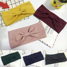 New fashion headband turban solid color hairband Makeup Fabric headdress Twisted Knotted girls Hair Accessories women Headwrap