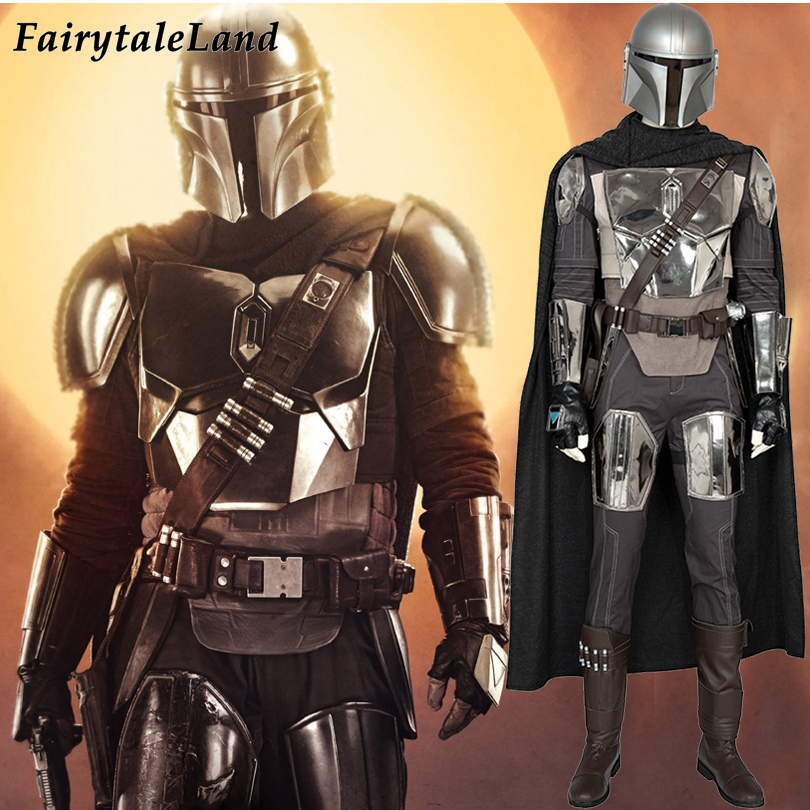 The Mandalorian Cosplay Costume Carnival Halloween Star Wars Superhero Battle Suit  Mandalorian Helmet Fancy Outfit Custom Made