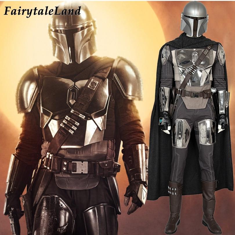 The Mandalorian Cosplay Costume Carnival Halloween Star Wars Superhero Battle Suit  Mandalorian Helmet Fancy Outfit Custom Made