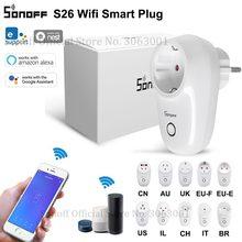 Sonoff S26 Wifi Stopcontact Us/Uk/Cn/Au/Eu/Il/Ch/Het/Br Smart Sockets Draadloze Schakelaar App Afstandsbediening Plug Voor Smart Home