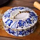 christmas wedding decoration Blue White Ceramic Fruit Plate Living Room Creative Candy Box Dried Fruit Box Dried Fruit Plate