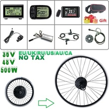 Conversion-Kit Ebike 500W Schuck 48V for Hub-Motor-Wheel 16-20-24-26 Cassette 28-29inch