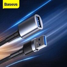 Baseus USB telefona erkek uzatma kablosu erkek kadın USB mikro B 3.0 kablo 5Gbps 2A hızlı veri Sync kablosu akıllı TV için