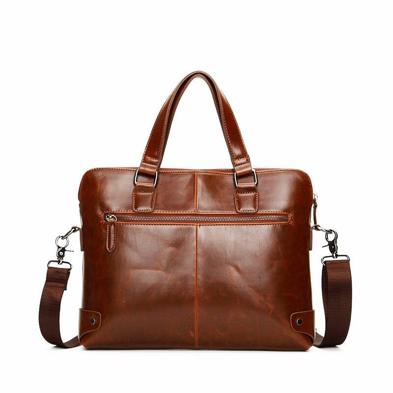 Men Bag Minimalist Crazy House Pu Leather Briefcases  Laptop Shoulder Bag 2019 Brand New Vintage Crossbody Bag