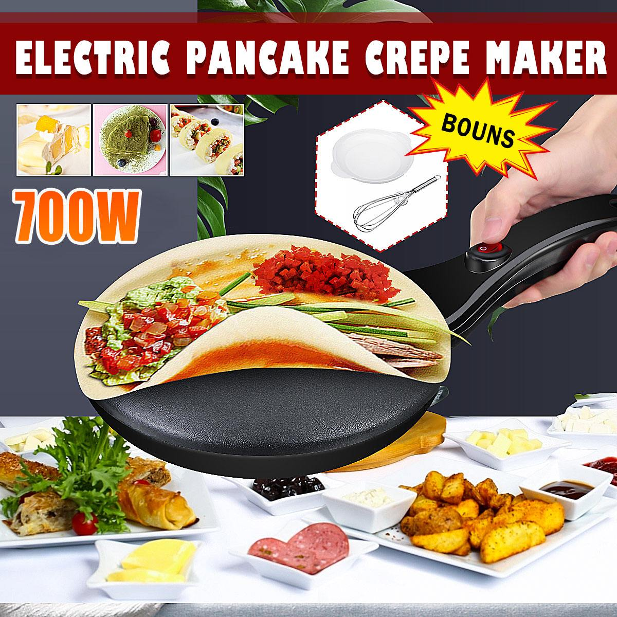 Portable Household Non-Stick Crepe Maker Pan Electric Pancake Cake 220V 700W Machine Frying Griddle Kitchen Baking Tools