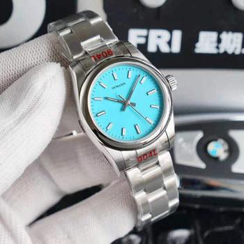 36mm 31mm mm damski zegarek automatyczny mechaniczny szafirowy stal nierdzewna 316L niebieska tarcza damska zegar 126333 tanie i dobre opinie 5Bar CN (pochodzenie) Składane bezpieczne zapięcie STAINLESS STEEL Moda casual Samoczynny naciąg ROUND 17mm Odblaskowe