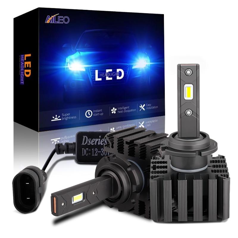 AILEO Car Headlight Bulb D1S D1R D1C D3S D3R 70W 12000LM Kit Bulbs LED Replace HID Conversion Lamps 6000k White automobile lamp