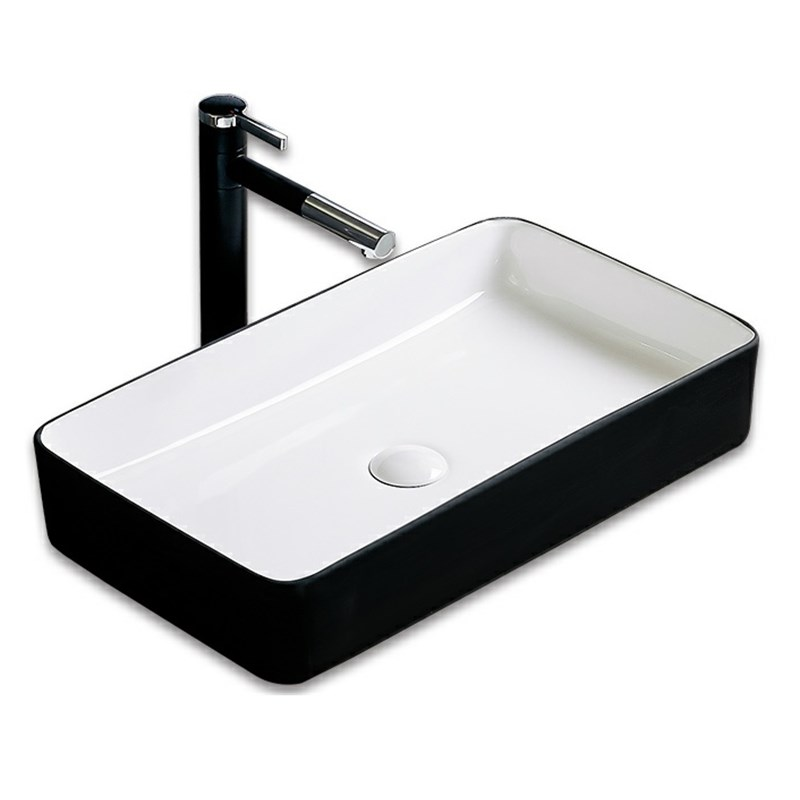 Black Ceramic bathroom basin simple black bathroom European art washbasin home basin
