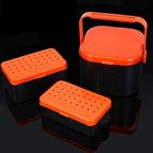 Многофункциональный ящик для рыболовных снастей 2 отсека дышащий чехол для организации приманки для дождевых червей