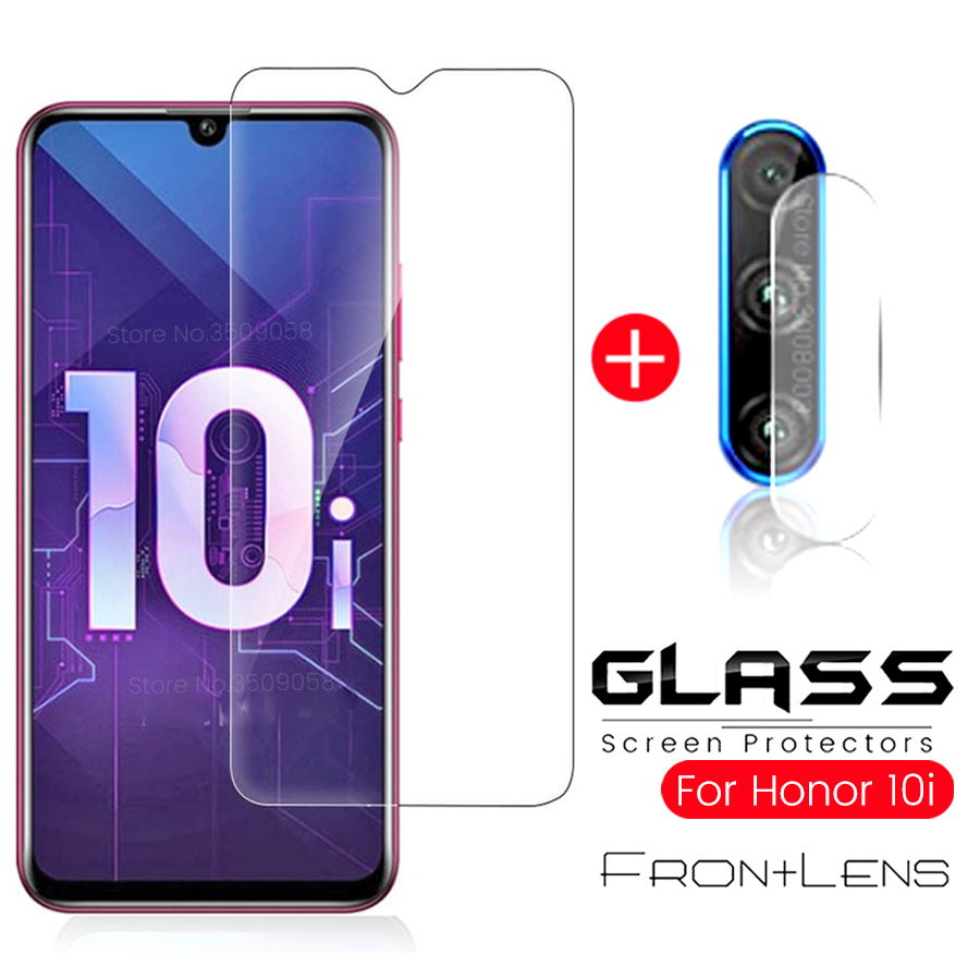 2-in-1 стекло на Honor 10i стекло хонор 10i Camera Protective Glass Honor 10i 10lite 10 Light Lite 9a 9s 9c Screen Prtector Film