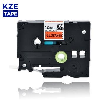 12mm TzeB31 Black on Flu.Orange Laminated Label Tape Cassette Cartridge label ribbon Tze-B31 tze B31 tzeB31 for P-touch PT