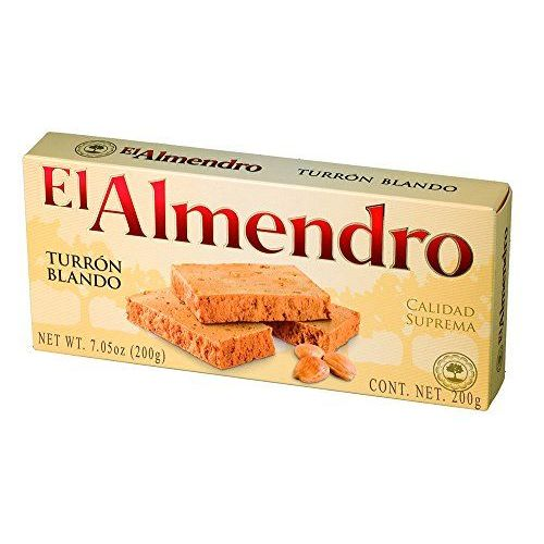 El Almendro - Turron Blando, Nougat Mou D'Amande - Qualité Supérieure - 200gr (Sans Gluten) - (Touron)Produit Espagnol / Nougat