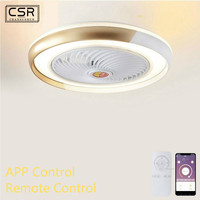 Ceiling Light Fan Lamp With Remote Control Mobile Phone Wi Fi Indoor Smart Home Decoration Smart Ceiling Fan With Modern Light