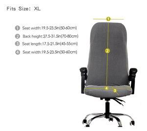 1PC Büro Stuhl Abdeckung Spandex Elastische Stretch Schwarz Grau Aufzug Computer Arm Stuhl Sitz Abdeckung M/L Größe