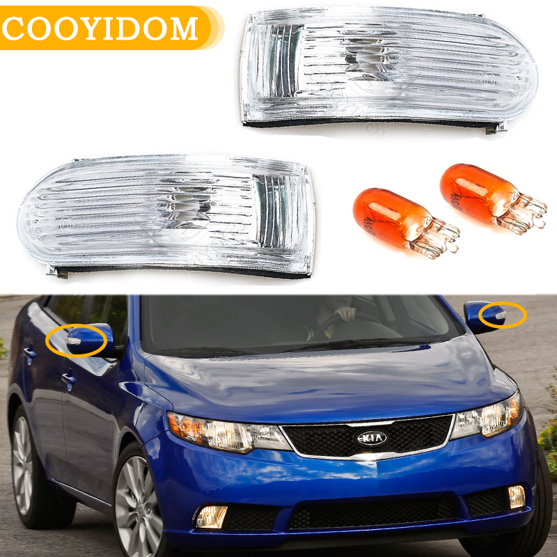 Автомобильный зеркальный светильник заднего вида с поворотным сигналом для KIA Forte 2009 2010 2011 2012, индикатор бокового зеркала, репитер, автомоби...