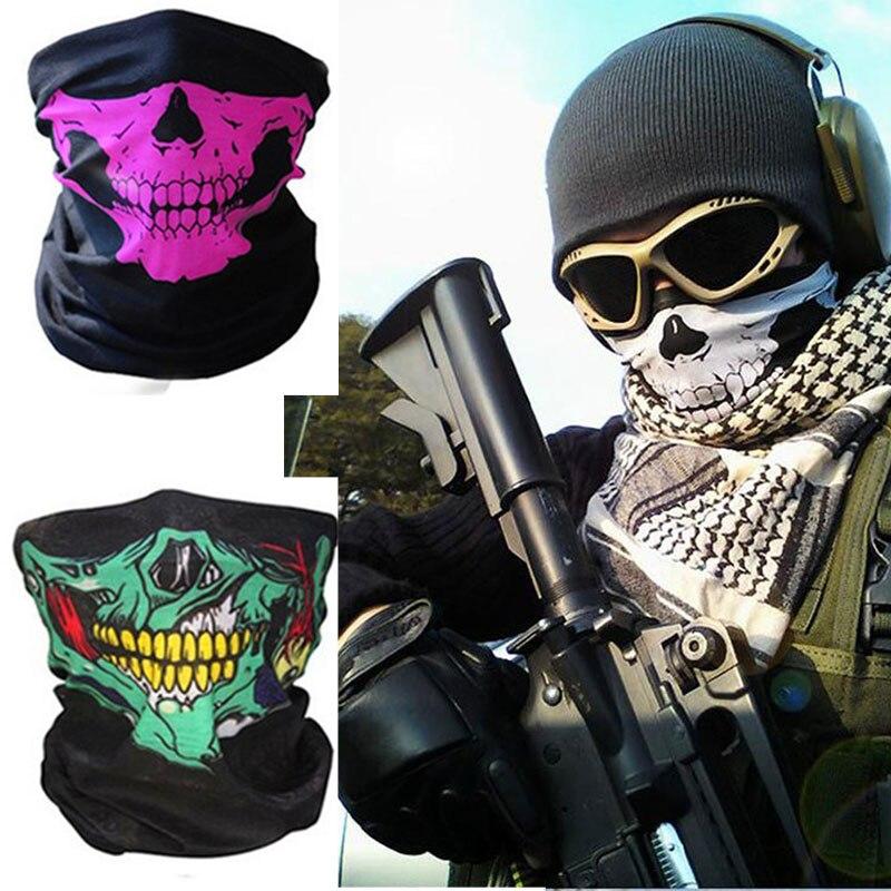 Half Face Mask Festival Skull Masks Skeleton Magic Bicycle Ski Skull Ghost Scarf Multi Use Neck Ghost Half Face Mask