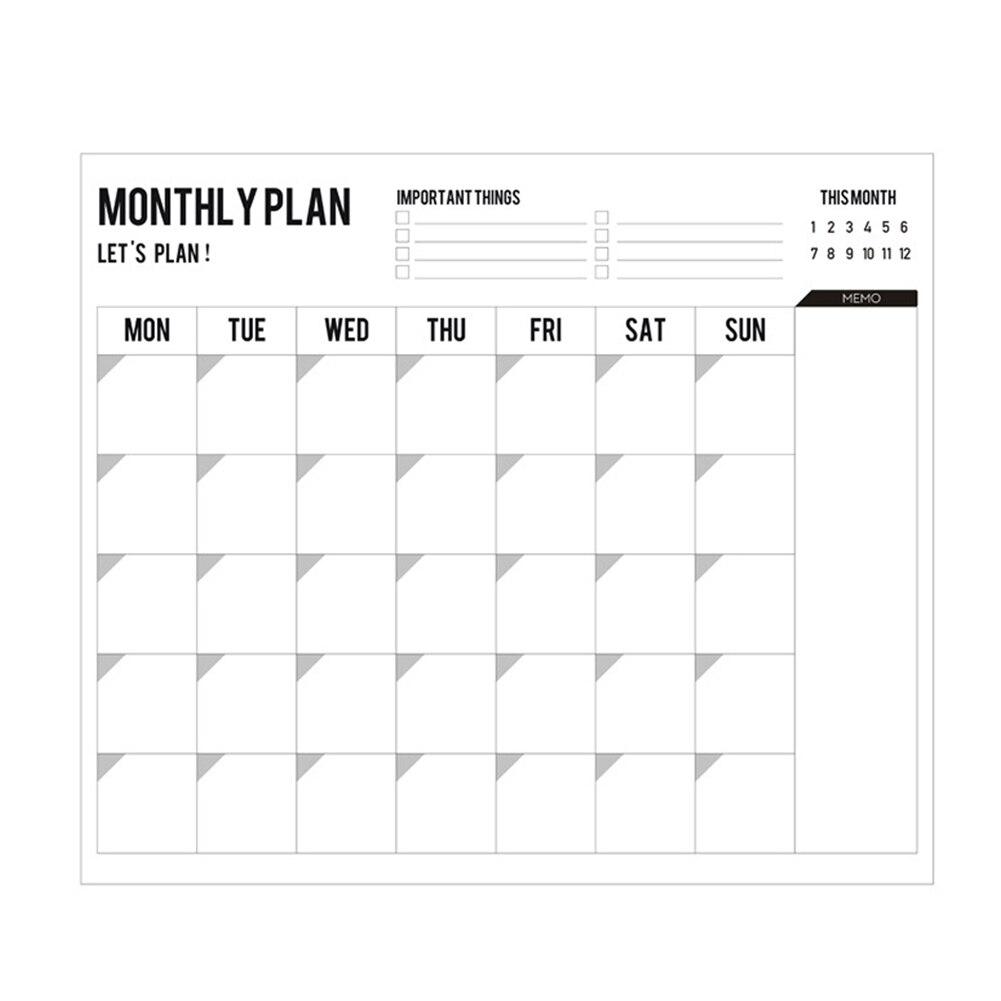 2 Pcs Monthly Calendar Planner Memo Organiser Annual Schedule Plan Sticker Wall Planner