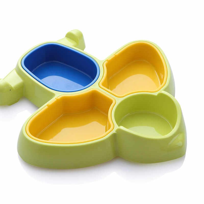 ใหม่น่ารักเครื่องบินเด็กจานอาหารค่ำเด็ก Solid Feeding Eating จานชามจานจานน่ารักเด็กทารกกินชาม