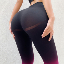 Spodnie do jogi Push Up rajstopy sportowe damskie seksowne bezszwowe legginsy sportowe damskie Fitness Ombre joga legginsy gimnastyczne trening odzież sportowa tanie tanio kitty Bee CN (pochodzenie) Elastyczny pas Poliester Stretch Spandex NYLON WOMEN Pasuje prawda na wymiar weź swój normalny rozmiar