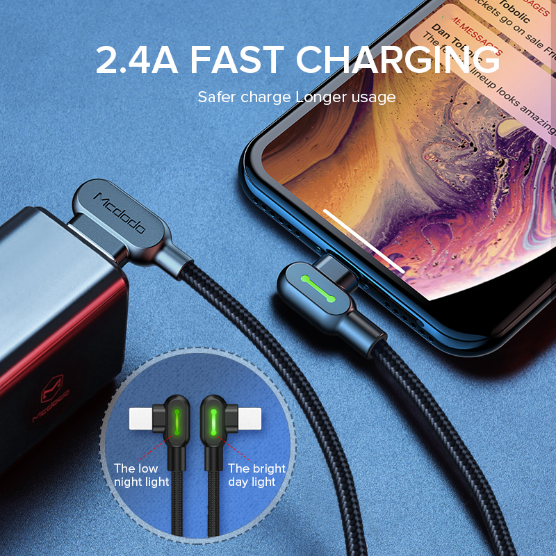 MCDODO 3m 2 4A Fast USB Cable For iPhone 11 Pro XS MAX XR X 8