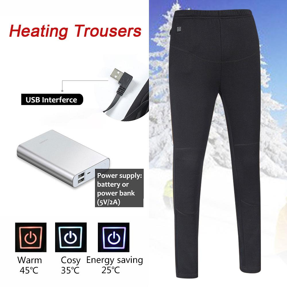 2018 Electric Heating Pants Electric Trousers 5-12v Winter Clothing Physiotherapy Hot Compress Trousers Heating Body Warmer USB