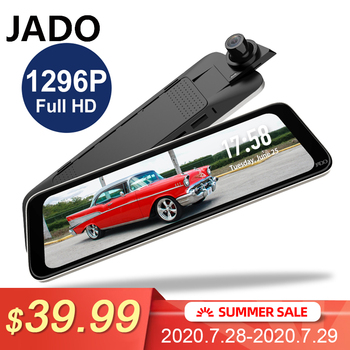 JADO G830 Car Dash Camera Double Recording HD Night Vision Video Recorder Car Camera 10 Inch Car Dvrs 1296P IPS Screen Recorder kommander car dvrs gps camera 2 in 1 ldws ambarella a7la50 speed cam full hd 1296p video recorder 3 night vision dash cam