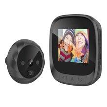 Digital Doorbell Peephole Viewer Electronic Screen Color 90-Degree