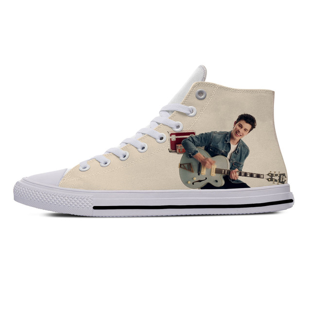 SHAWN MENDES THEMED HIGH TOP SHOES (8 VARIAN)