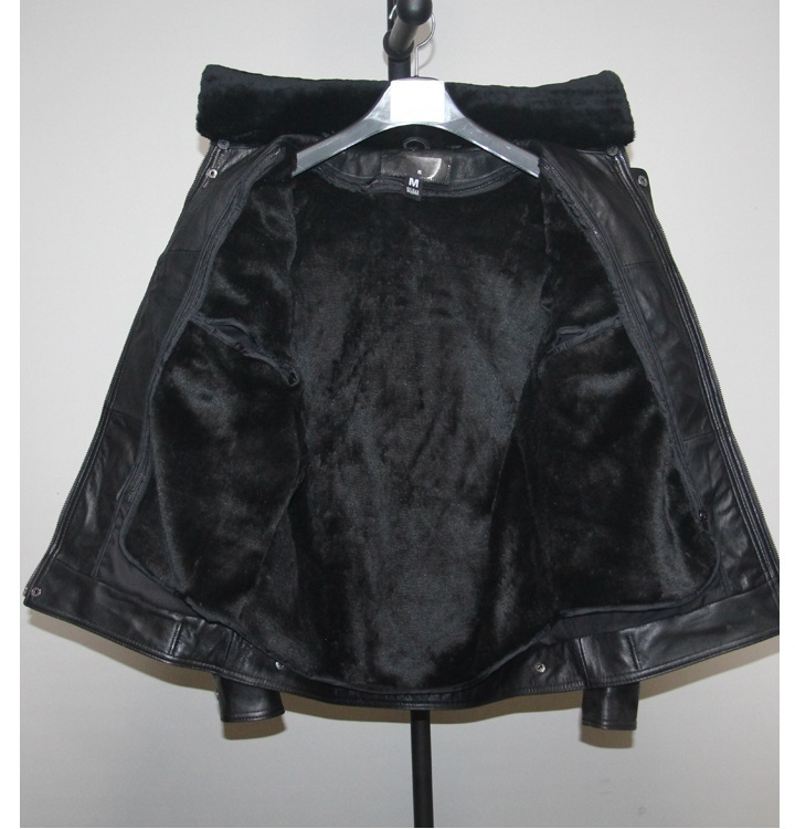 Free Shipping.Plus Size Brand Classic Men Goatskin Slim Jacket,men's Motor Genuine Leather Safari Style Jacket.sales Detachable