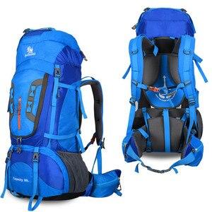 Image 5 - 2020 Camping Hiking Backpacks Big Outdoor Bag Backpack Nylon Superlight Sport Travel Bag Aluminum Alloy Support  80L