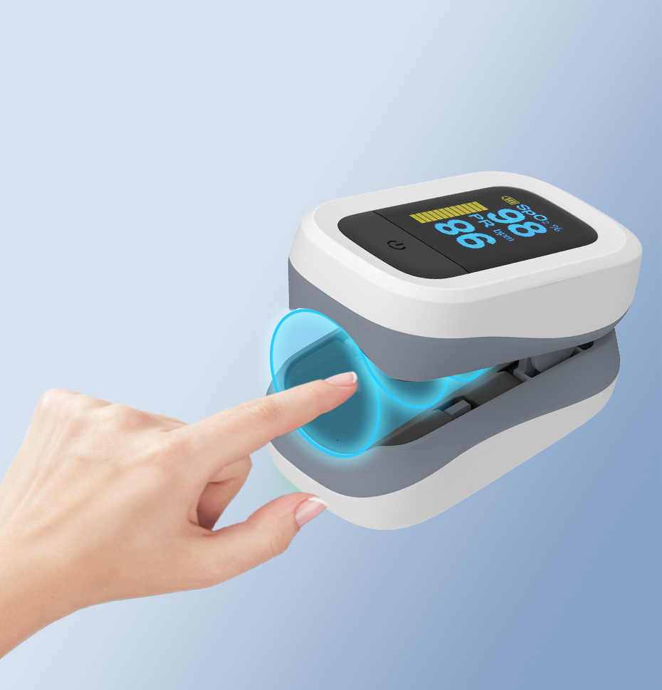 YONGROW Medical Fingertip Pulse with Sound and Light Alarm and OLED Display 18