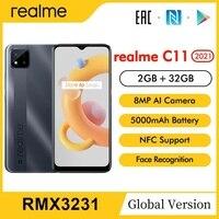 "realme C11 Global Version Smartphone 2GB RAM 32GB ROM 5000mAh 6.5"" HD+ Large Display Mobile Phone Support NFC Network 1"