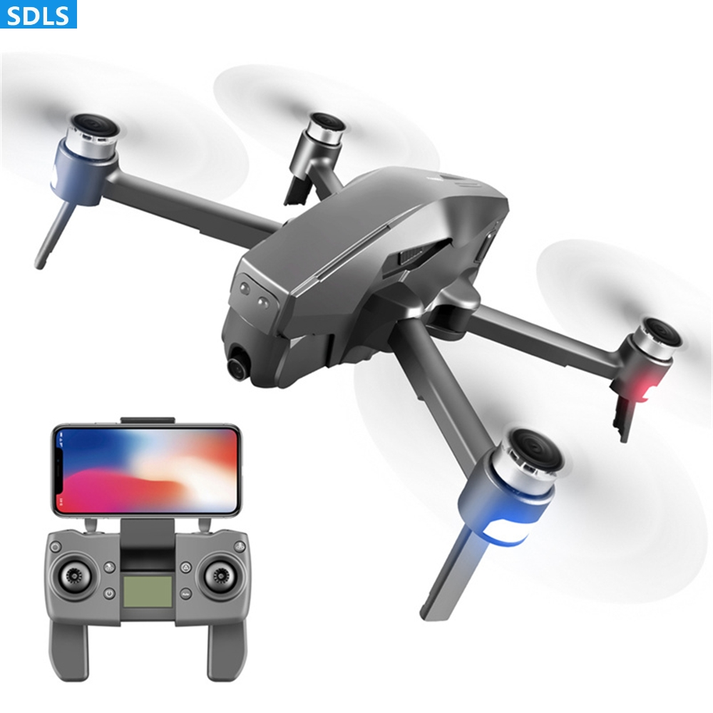 Professional GPS <font><b>Drone</b></font> 4K HD 5G Wifi FPV Camera Quadcopter Foldable Arm <font><b>Brushless</b></font> Motor Helicopter Toys Optical Dual Camera Dron image