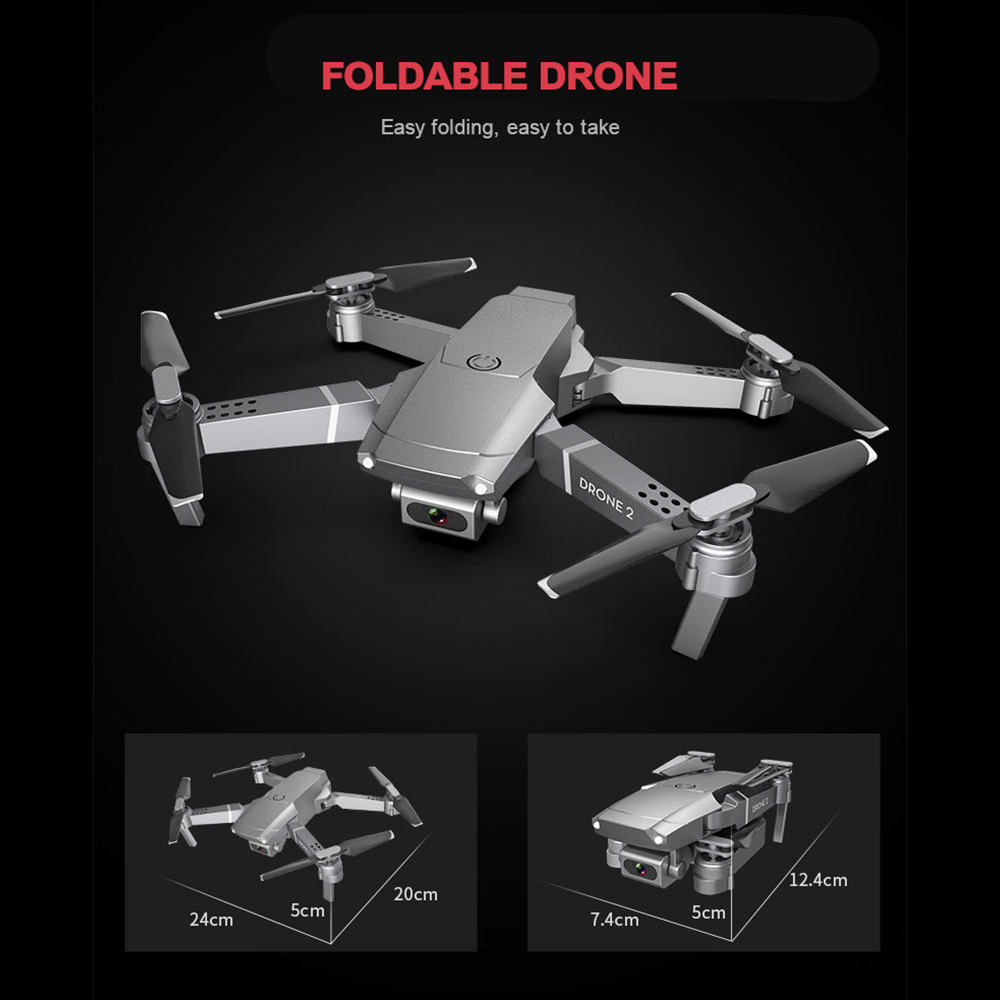 E68 Drone 4K Professional Multi-Battery Longer Battery Life Altitude Holding Gesture Photo/Video RC Foldable Quadcopter 2020 Toy
